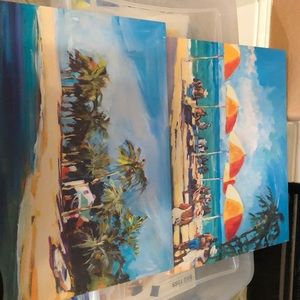 2 beach picture wall art decoration